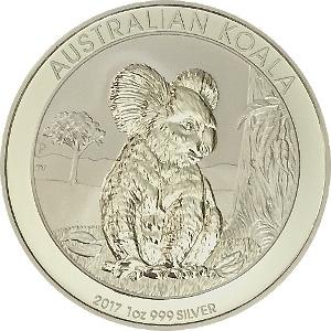 KOALA 2017 1oz 999 Silver Coin Proof Like