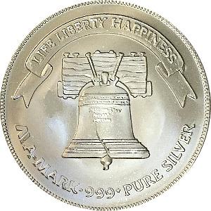 Liberty Bell A-MARK 1oz Silver 999 Bullion Round