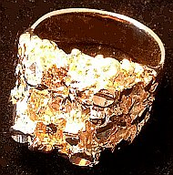 Gold Nugget Large Ring 24kt layered
