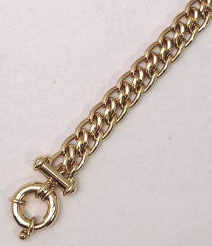 9ct Gold Panther Wide Bracelet 190mm