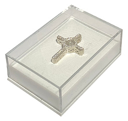 Plastic Pendant Box with Clear View Lid 58x40x22