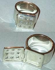 Secret Pill Box Silver Ring