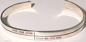 Childs Torque Shell set Bangle Sterling Silver