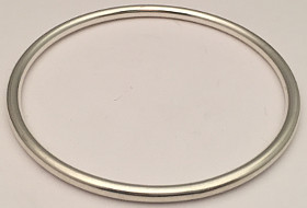 Sterling Silver Round Bangle 3mm