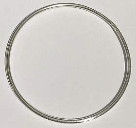 Sterling Silver Round Bangle 2mm