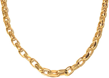 24in Solid 9ct Gold Diamond Cut Flat finish Belcher Chain