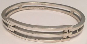 Sterling Silver Triple Bar solid Bangle