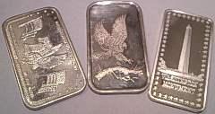 Silver Bullion 1oz Art Bars - Assorted Designs