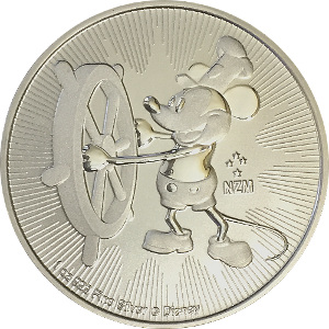 SteamBoat Willie DISNEY 1oz 999 Silver Coin