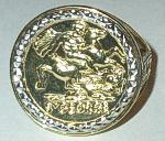 9 carat Gold Coin design SON Ring