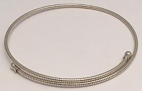 Sterling Silver Segment design Torque Bangle
