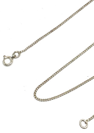 Sterling Silver 18inch Trace 1mm Chain
