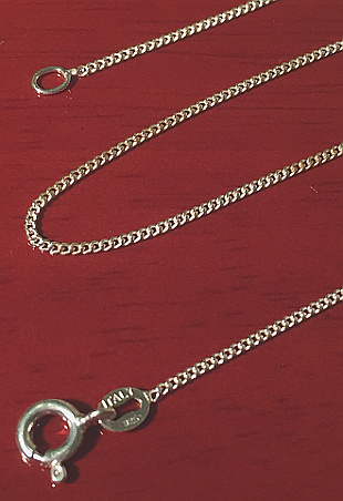 Sterling Silver 30inch Fine Curb Chain 750mm x 1mm