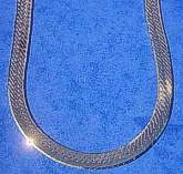 18 inch Sterling Silver Herringbone Design Necklace with Extension 460mm
