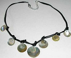 Shell Discs Necklace Genuine Natural Shell (Pack of 6)