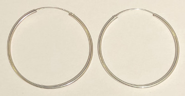 Sterling Silver Hoops 50mm