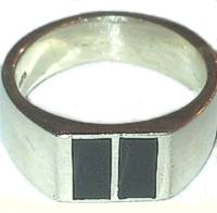 Silver Mens Signet Fred Bennett Ring