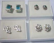 30 pairs Sterling Silver Studs assorted with Boxes