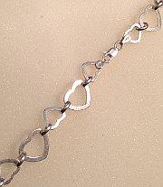 Silver Alternating Open Hearts Bracelet 925