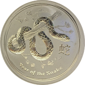 Lunar Year of the Snake Silver 1oz Coin 2013