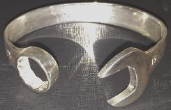 15mm Large Sterling Silver Spanner Bangle 1.5oz