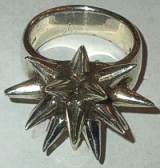 Sterling Silver Spikey Pointed Ring