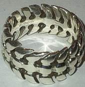 Sterling Silver Spine Bones shape Ring