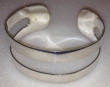 Sterling Silver Split Cuff Bangle