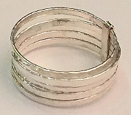 Stacked Multi Band 925 Silver Ring