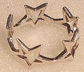Sterling Silver Stars Band Ring