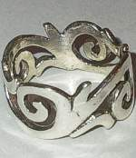 Sterling Silver Scroll Band Ring
