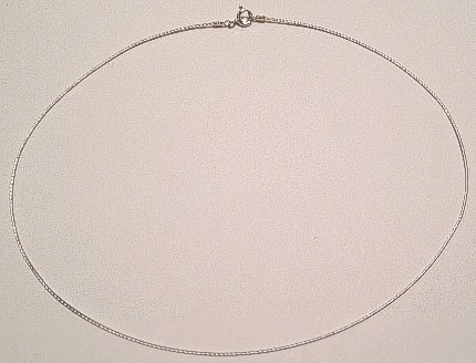 Sterling SILVER NECKLET WIRE 410mm