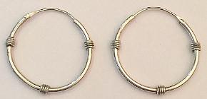 Trio Twist design Sterling Silver Hoop Earrings