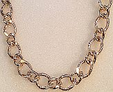 Textured Large 12mm Wide Gold tone Curb Chain