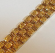 Large 9ct Gold Textured Link 17mm Bracelet