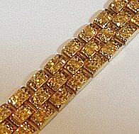 Large 9ct Gold Textured Link 17mm Bracelet