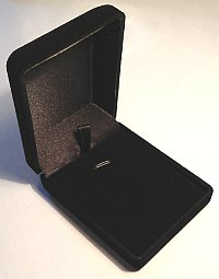 Necklace Pendant Box Black Velveteen 76x60x30