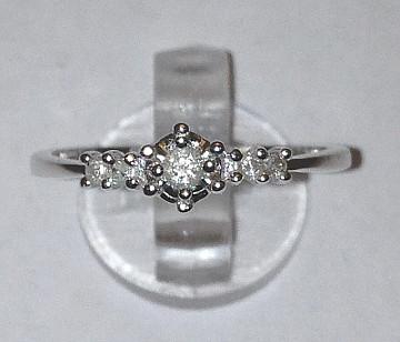 9ct White Gold prong set 0.10Ct Diamonds Engagement Ring