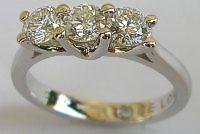 50pt Diamond Trilogy 18ct White Gold Ring