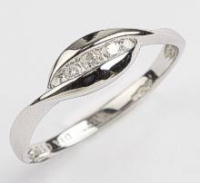 9ct White Gold 5 channel set Diamonds Ring