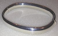 Wide Sterling Silver hinged Bangle 8mm