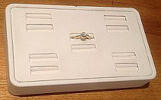 Ring Block White Leatherette for 10 Rings