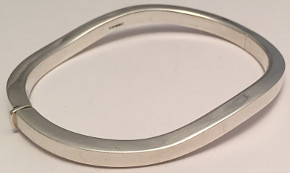 Waves Sterling Silver Bangle
