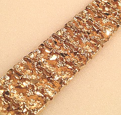Heavy Mens NUGGET Bracelet 3.5oz Gold Layered